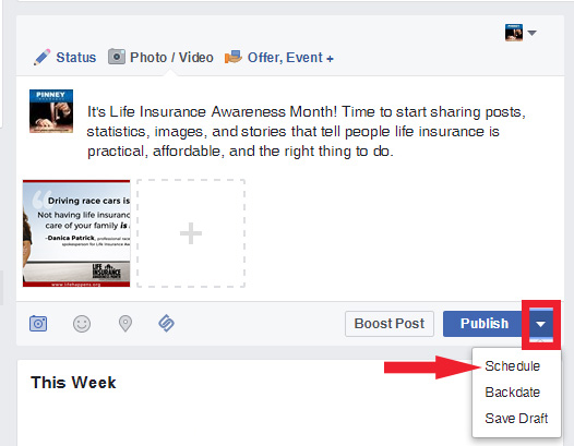 Step 1: Scheduling Social Media Posts on Facebook
