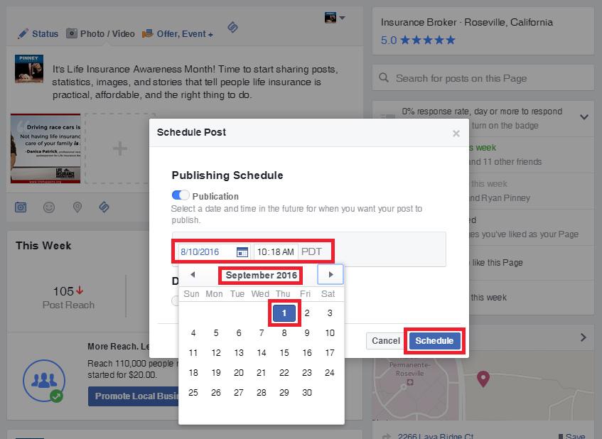 Step 2: Scheduling Social Media Posts on Facebook