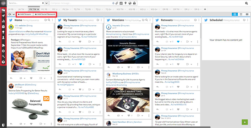 Your Hootsuite dashboard