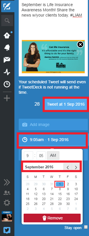 Step 5: Scheduling Social Media Posts on Twitter