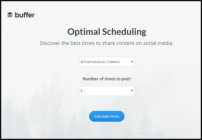 Buffer: Optimal Scheduling Tool